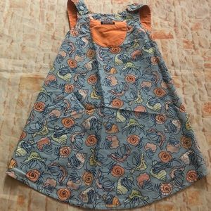 Patagonia baggies reversible dress Sz 5T orange